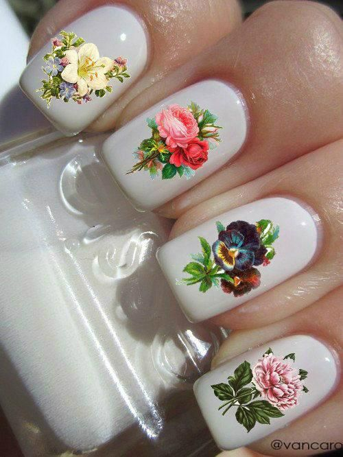 18 Vintage Floral Nail Designs You Will Love foto