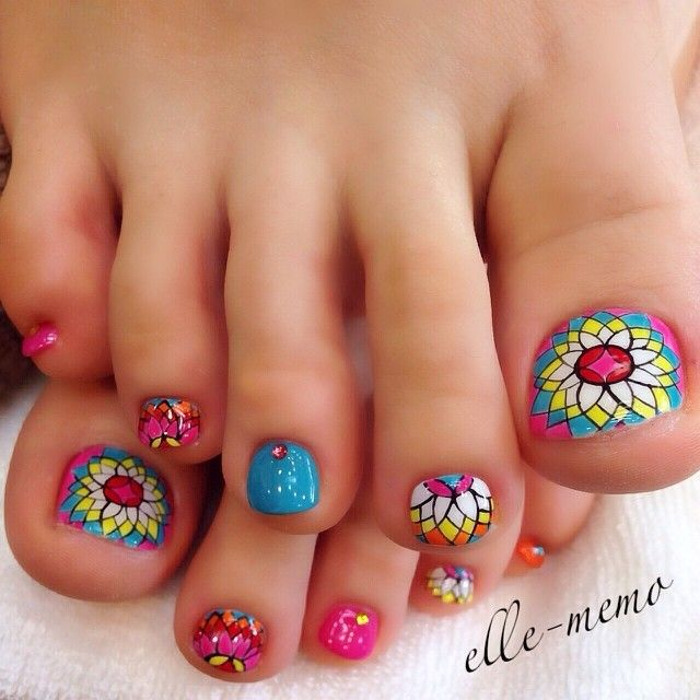 Foot Nail Art Design
