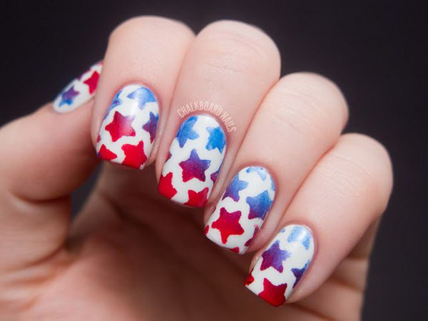 17 stunnig star nail designs for fashionistas styles weekly chic star nail design prinsesfo Images