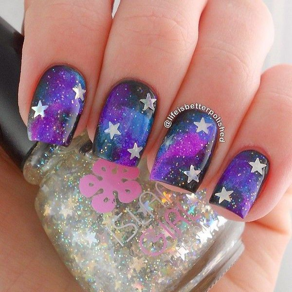 17 stunnig star nail designs for fashionistas styles weekly fashionable star nail design solutioingenieria Images