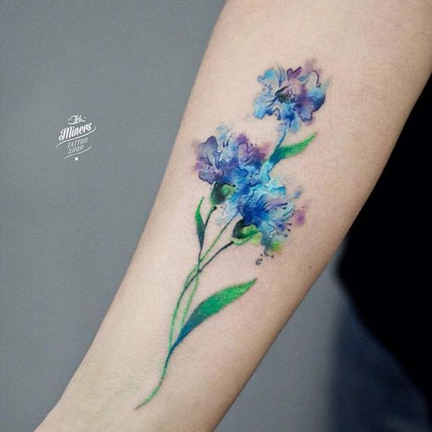 16 Beautiful Watercolor Tattoo Designs For Women