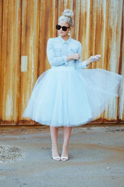 20 Fashionable Tulle Skirt Outfits For Summer | Styles Weekly