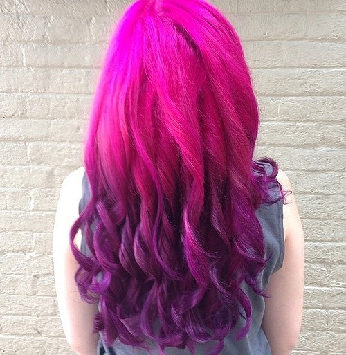 20 Hottest Pink Red Ombre Hairstyles For Medium Long Hair