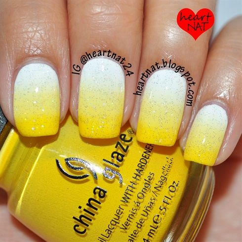 Glitter Yellow Nail Design. nail - 17 Trendy Yellow Nail Art For Summer Styles Weekly