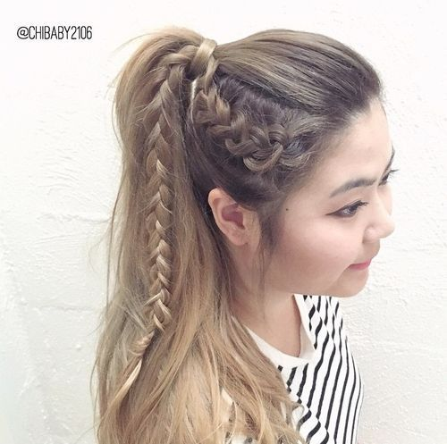 Pretty Ways to Try French Braid Pontails