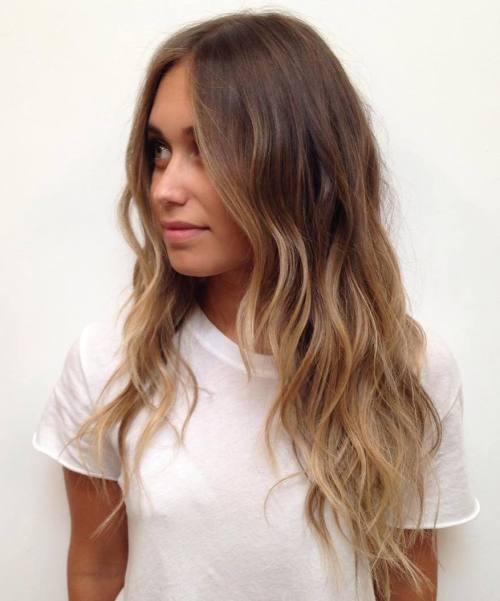 Brown to Blonde Beach Waves. Amazing Balayage Hairstyles for Women