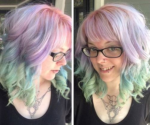21 Bold Blue Highlight Hairstyles Blue Ombre Hair Ideas Styles