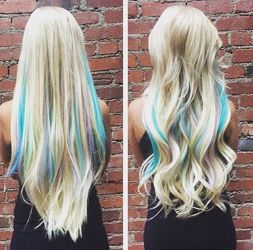 Sassy Hairstyles in Blue