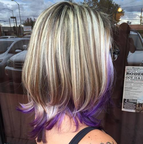 Sassy Purple Highlighted Hairstyles