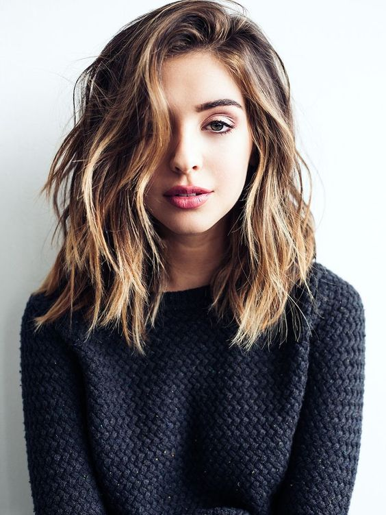 lob hair style