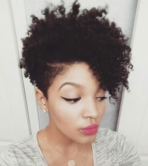 Natural Short Hairstyles For Black Women 2018