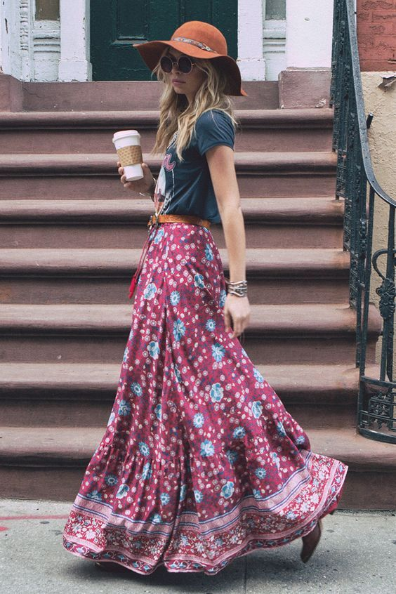 16 Beautiful Maxi Skirt Outfits for Summer | Styles Weekly