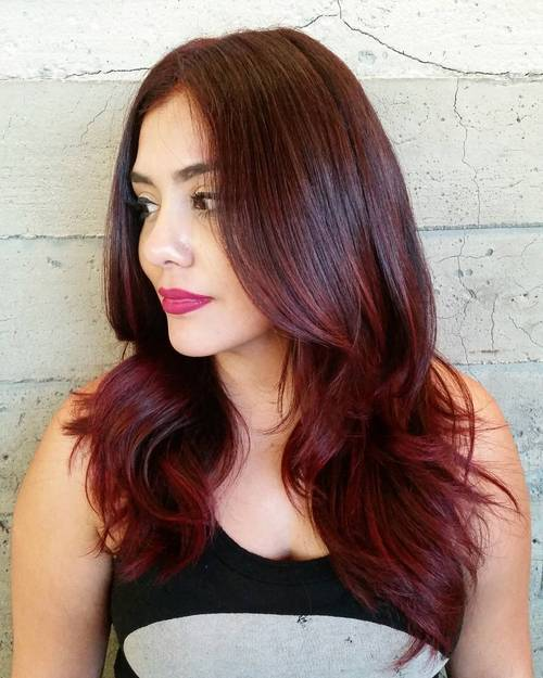 22 Red Ombre Hairstyles for a New Season