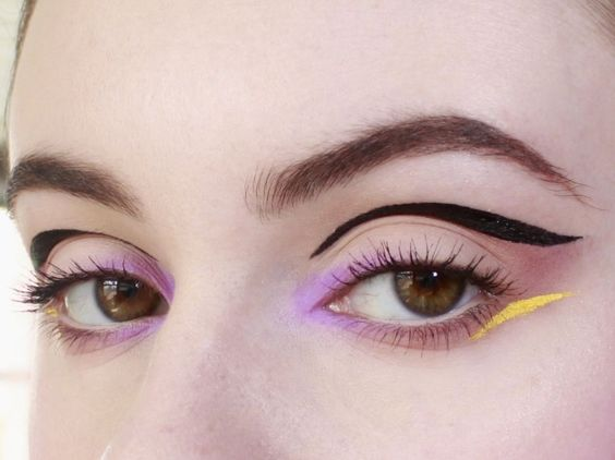 Graphic Eyeliner color ideas