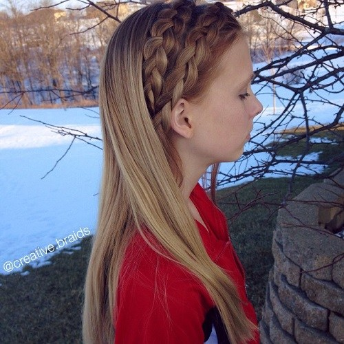 22 Pretty Braided Hair Ideas for Teenage Girls