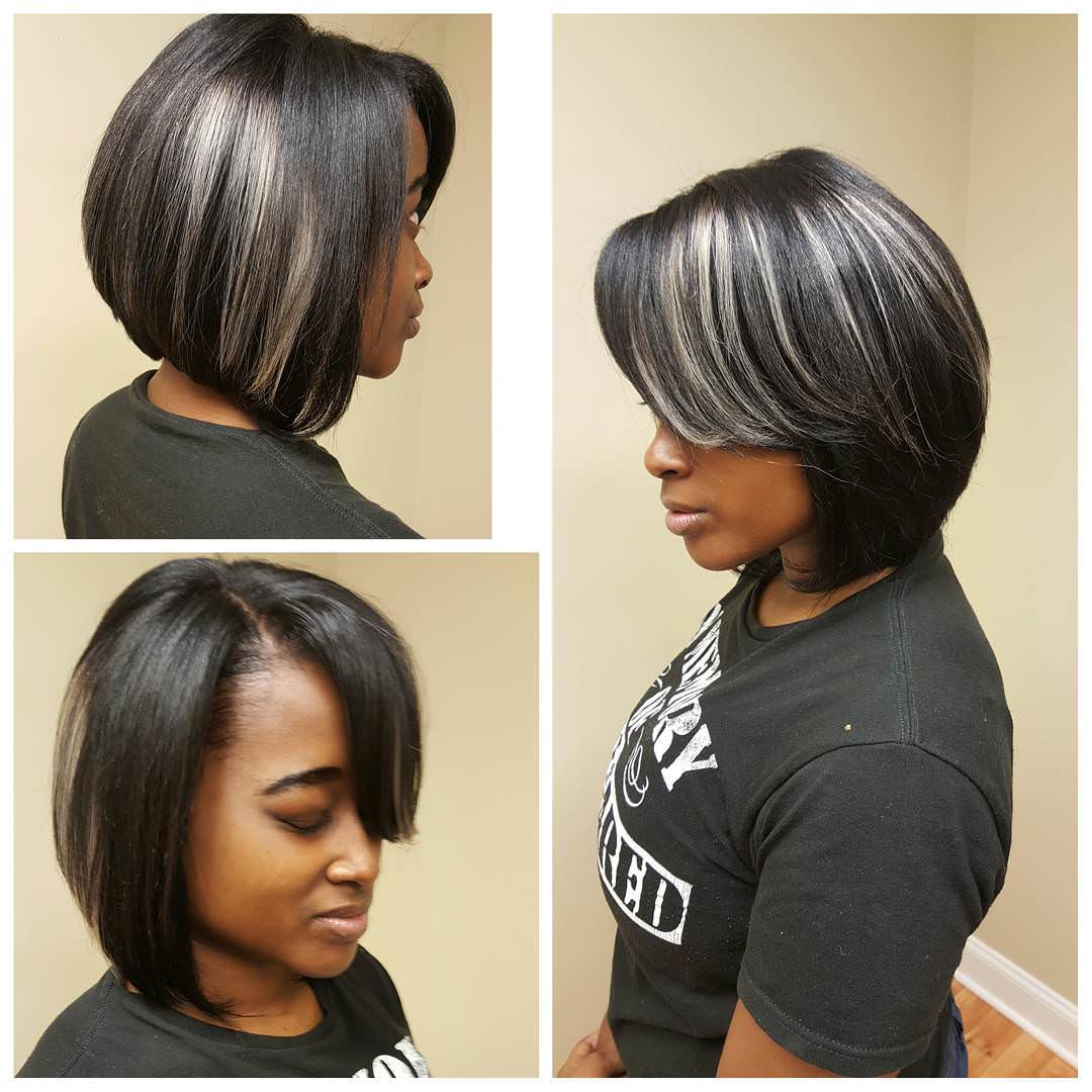 Grey-Weave-Bob hairstyle for women 2017