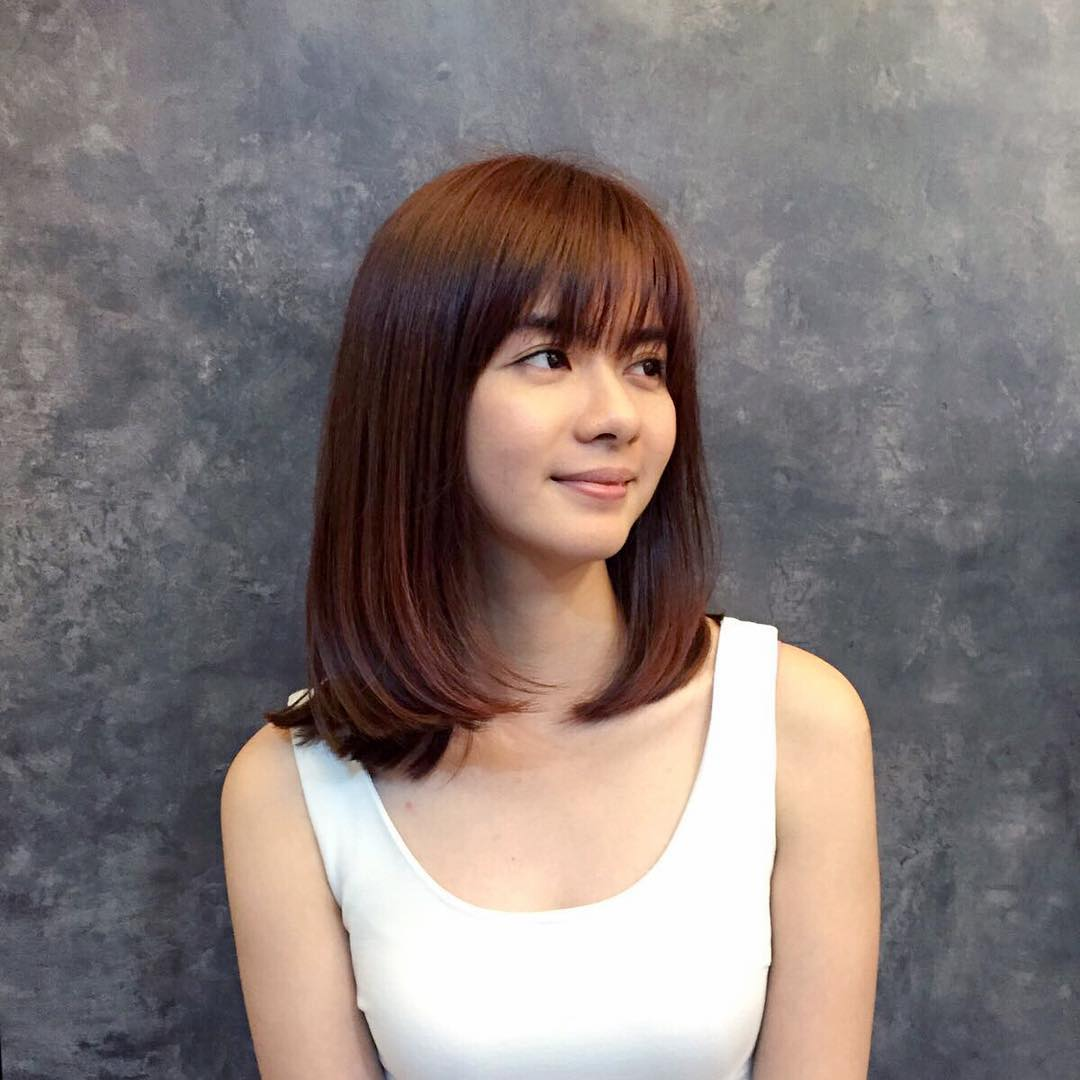 Medium-Length-Bob hairstyle for Asian girls 2017