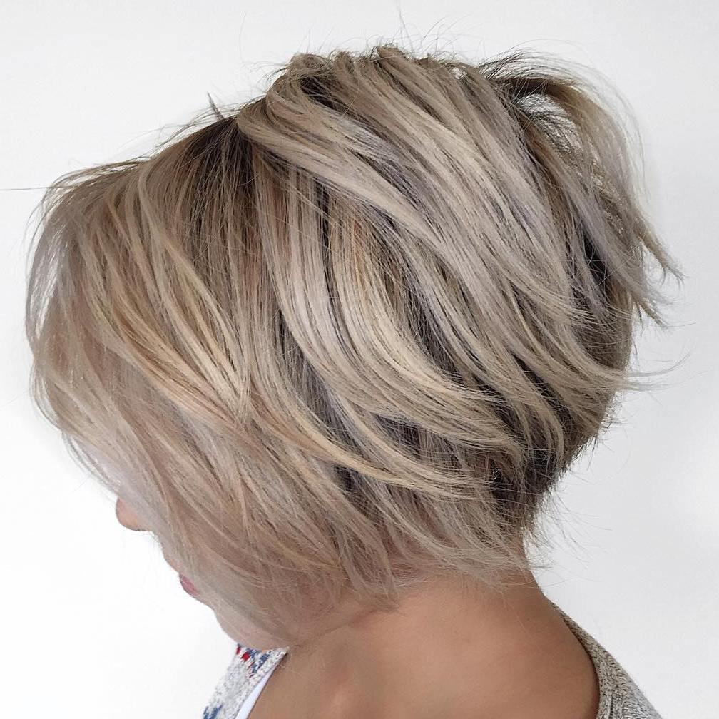 Brown Blonde Inverted Bob Hairstyle Styles Weekly