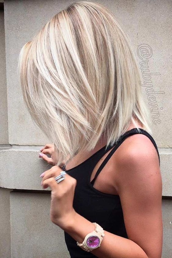long thick bob hairstyle for women