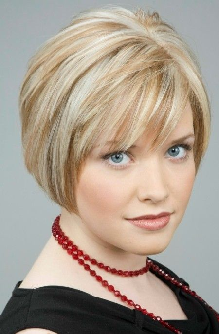 short bob hairstyles with bangs over 50