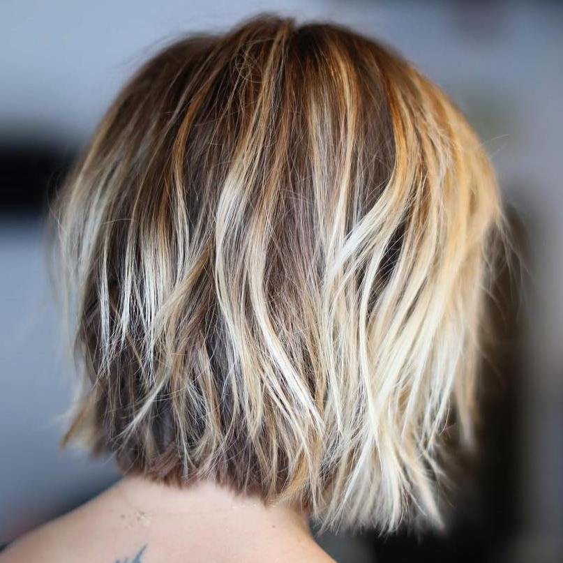 Short Shaggy Blonde Balayage Bob Styles Weekly