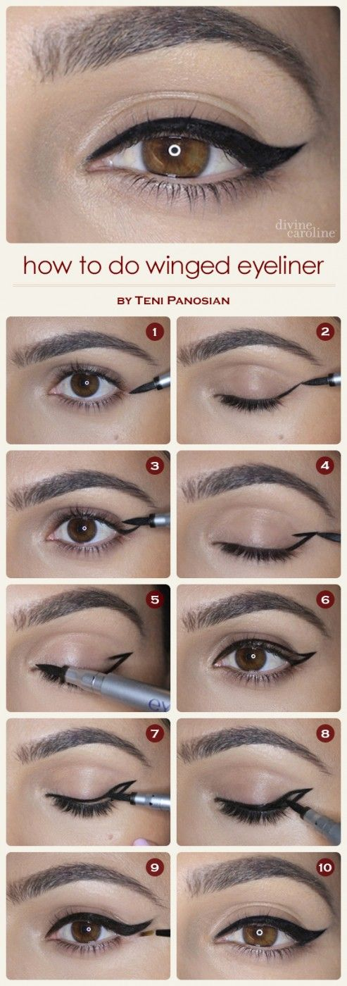 How to Use Eyeliner – Types and Pictures and Step by Step