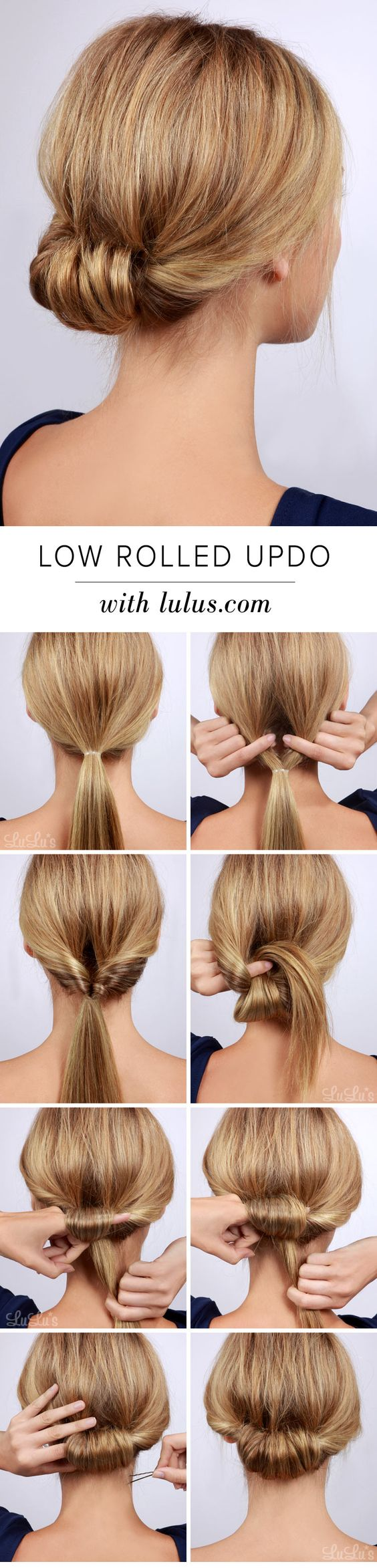 11 easy step by step updo tutorials for beginners – hair