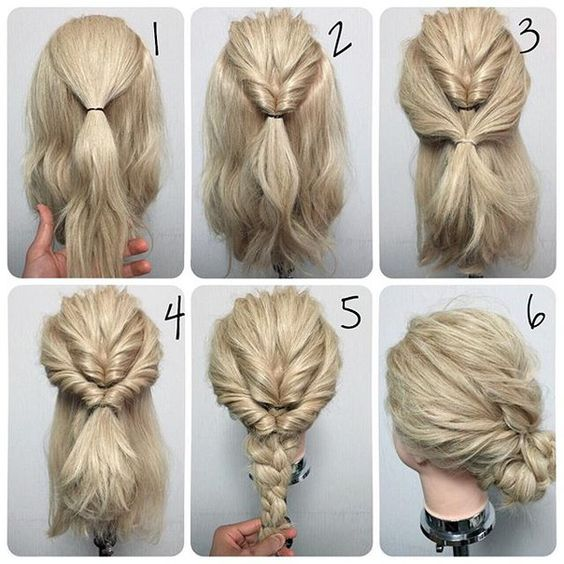 11 easy step by step updo tutorials for beginners � hair