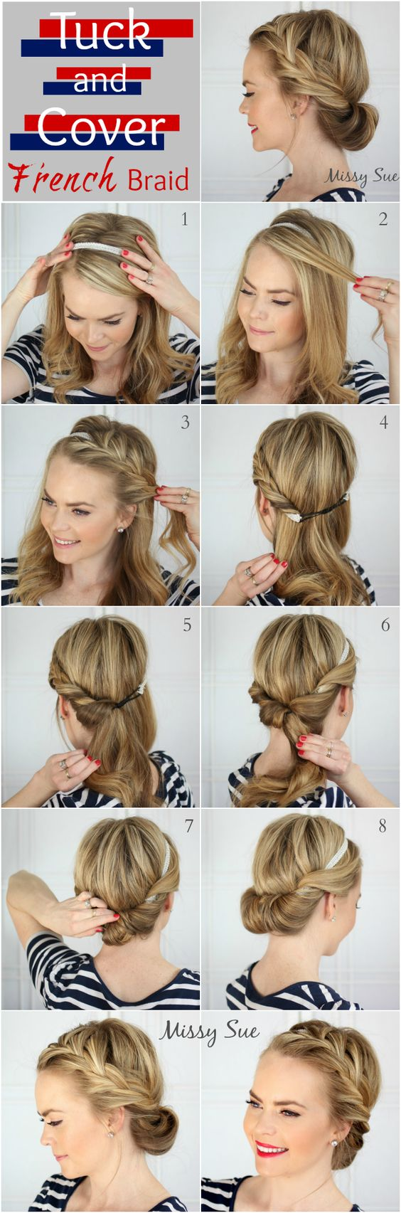 11 Easy Step by Step Updo Tutorials for Beginners - Hair Wrap Tutorials | Styles Weekly