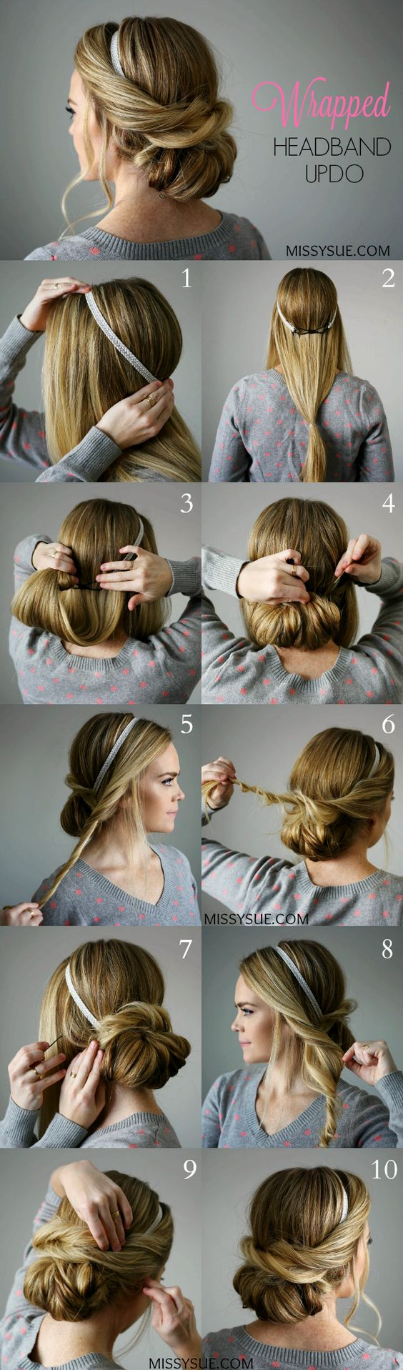 11 Easy Step by Step Updo Tutorials for Beginners - Hair ...