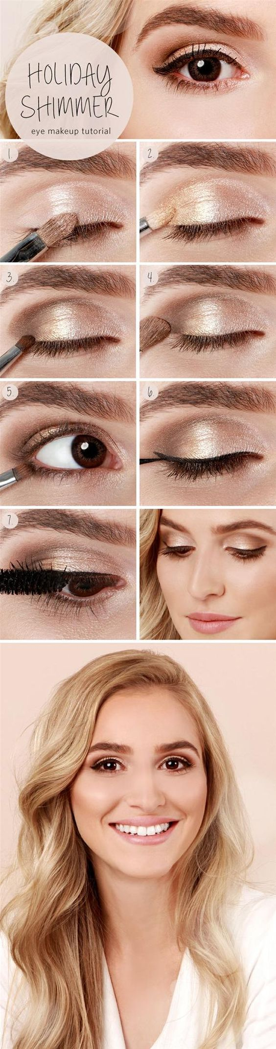 Step By Step Makeup Tutorials For Brown Eyes
