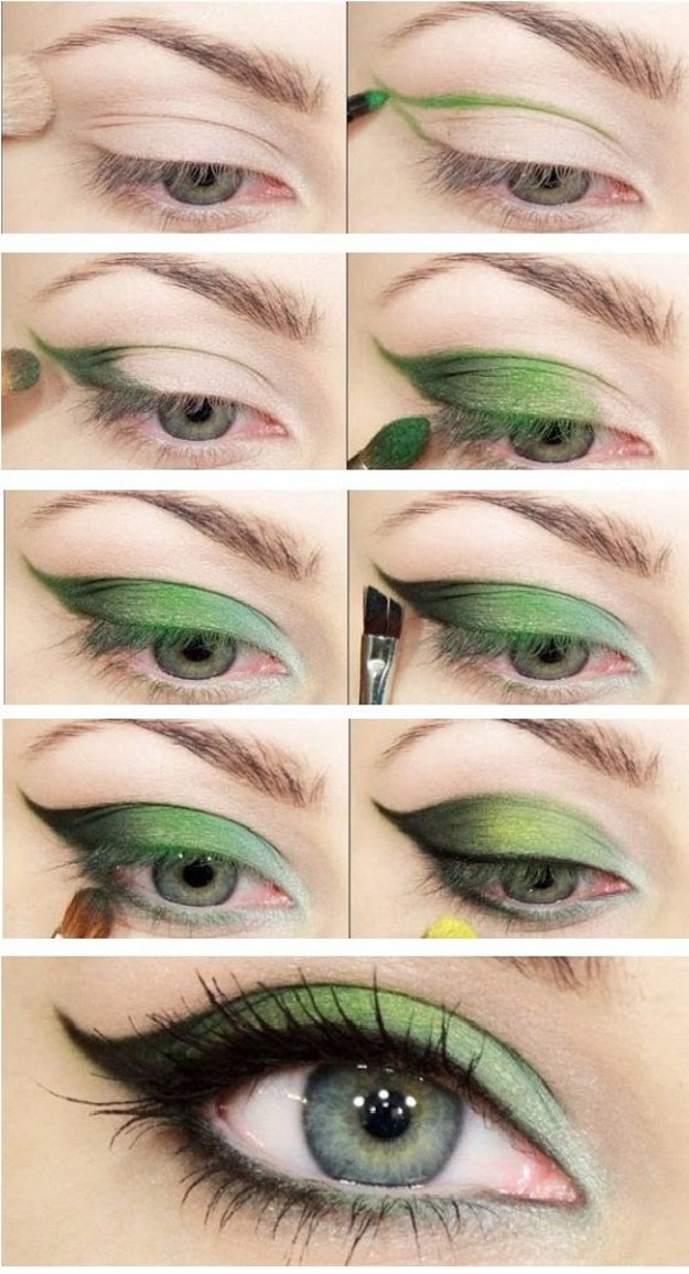 Step By Step Makeup Tutorials For Green Eyes