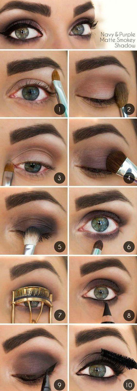 eye makeup ideas for dark brown eyes step by | saubhaya makeup