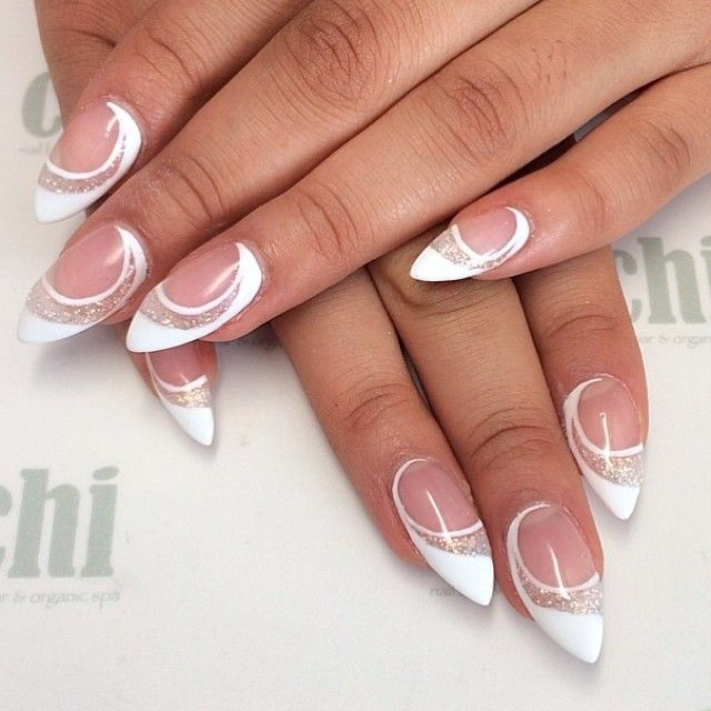 Amazing French Manicure Designs - Cute French Nail Polishes - 50 Amazing French Manicure Designs – Cute French Nail Art Styles