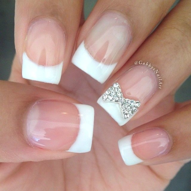50 amazing french manicure designs cute french nail art styles weekly. Black Bedroom Furniture Sets. Home Design Ideas