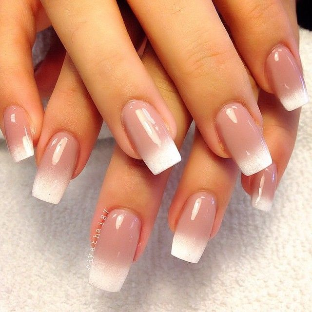 50 Amazing French Manicure Designs – Cute French Nail Arts ...