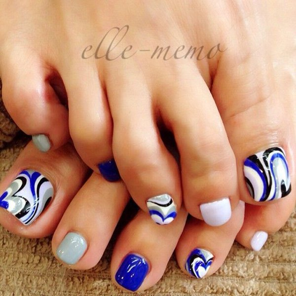 Foot Nail Art Design: 46 Cute Toe Nail Art Designs