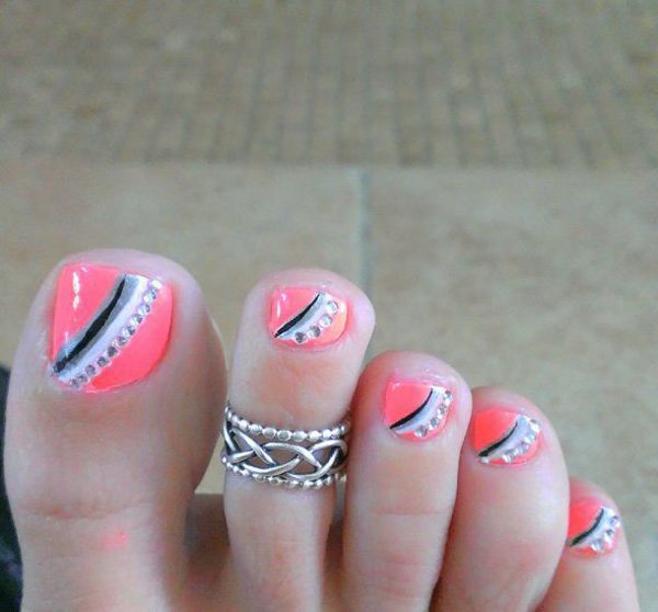 46 Cute Toe Nail Art Designs