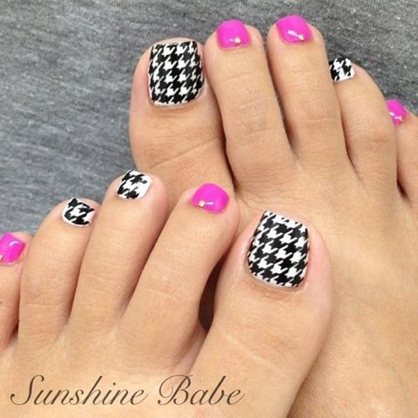 Adorable Nail Designs: 46 Cute Toe Nail Art Designs
