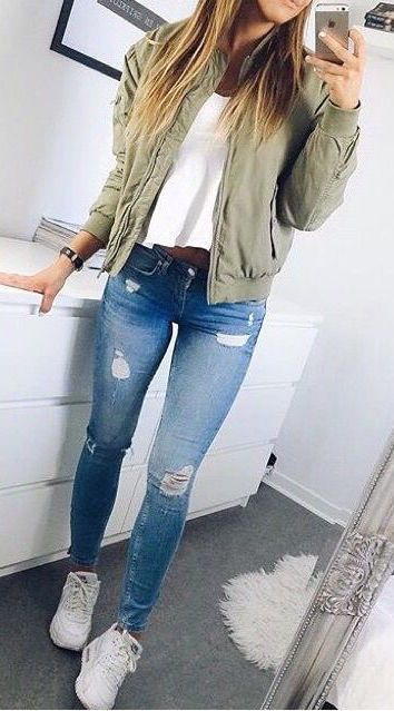 lovely cute school outfits with jeans