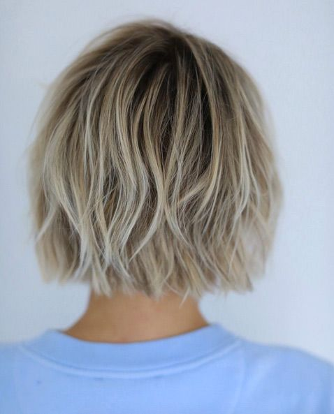 Short messy bob haircut 2018