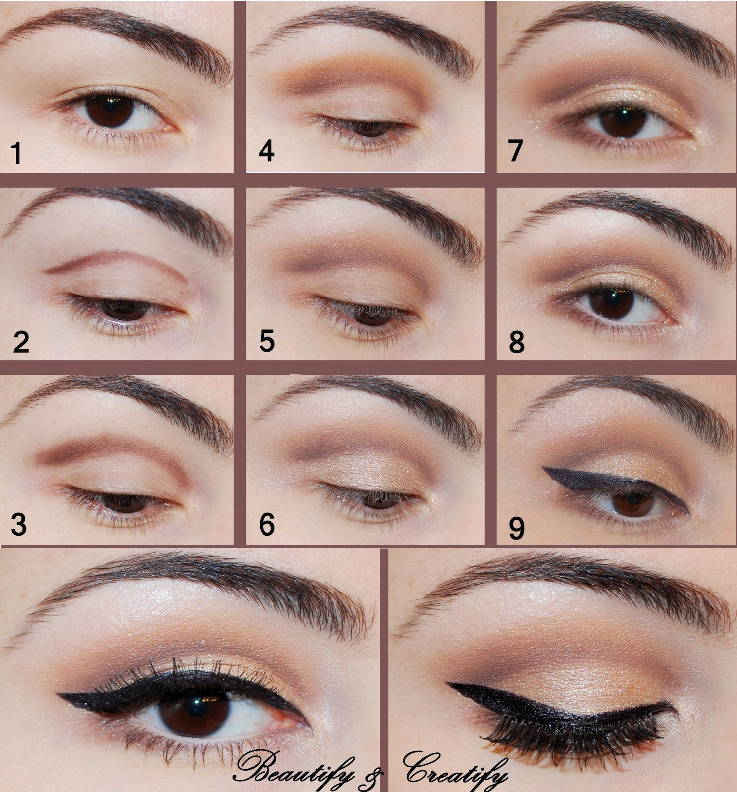 16 Easy Step By Step Eyeshadow Tutorials For Beginners Crazyforus