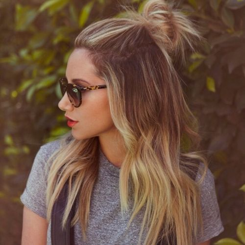 10 Ways to Style a Half Up Half Down Bun