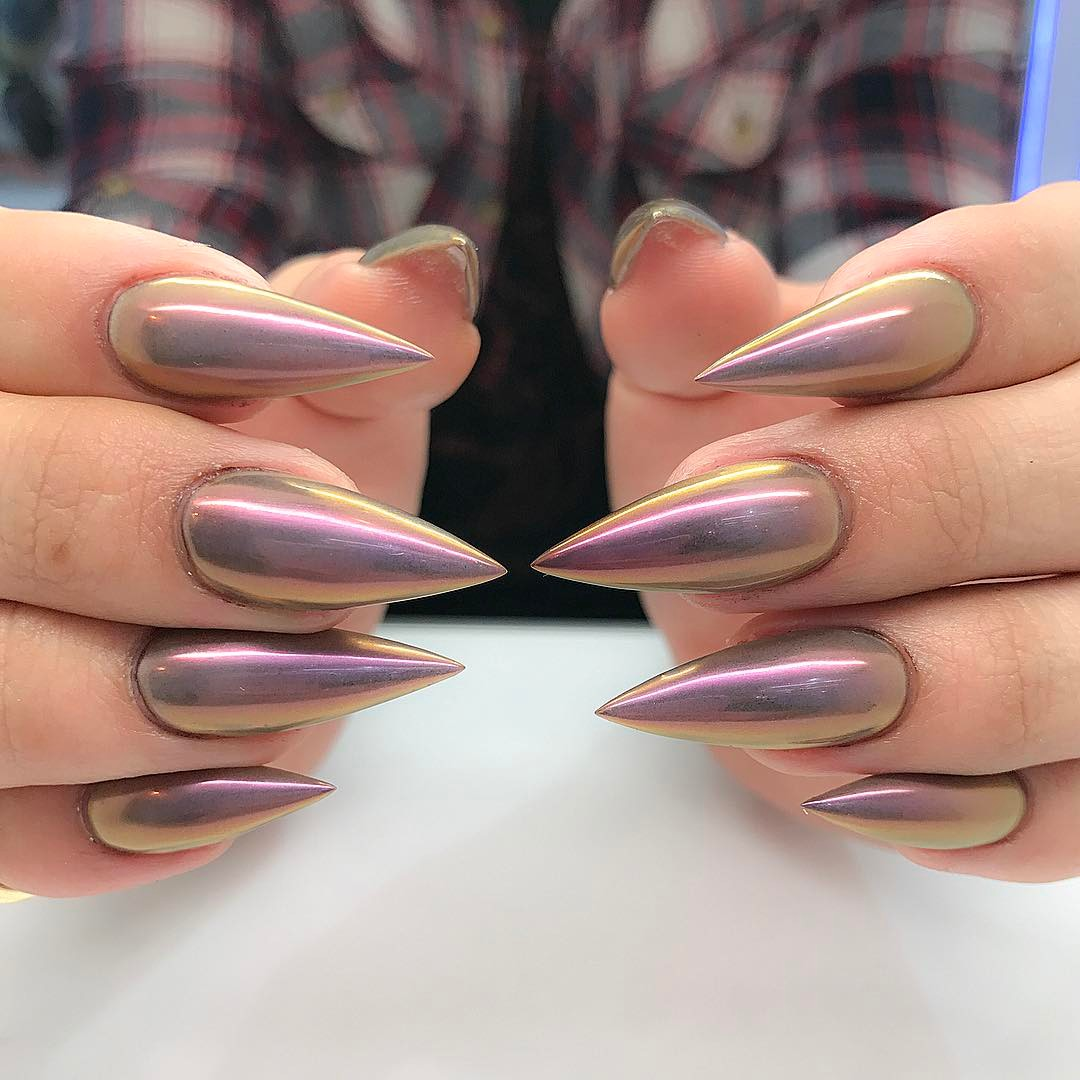 Nail Ideas: 21 Stunning Chrome Nail Ideas To Rock The Latest Nail