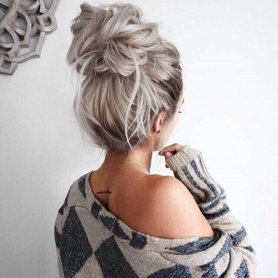22 Pretty Easy Bun Hairstyles To Try Easy Bun Updos Styles Weekly