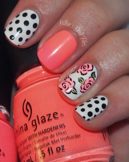 20 Fascinating Floral Nail Designs for Spring and Summer