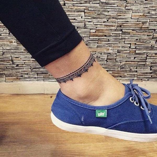 Pretty Ankle Tattoo Ideas for Girls