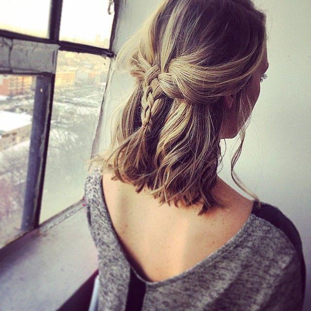 25 Cute Short Hairstyle with Braids - Braided Short Haircut