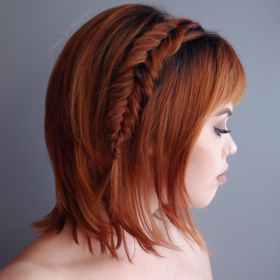 25 Cute Short Hairstyle With Braids