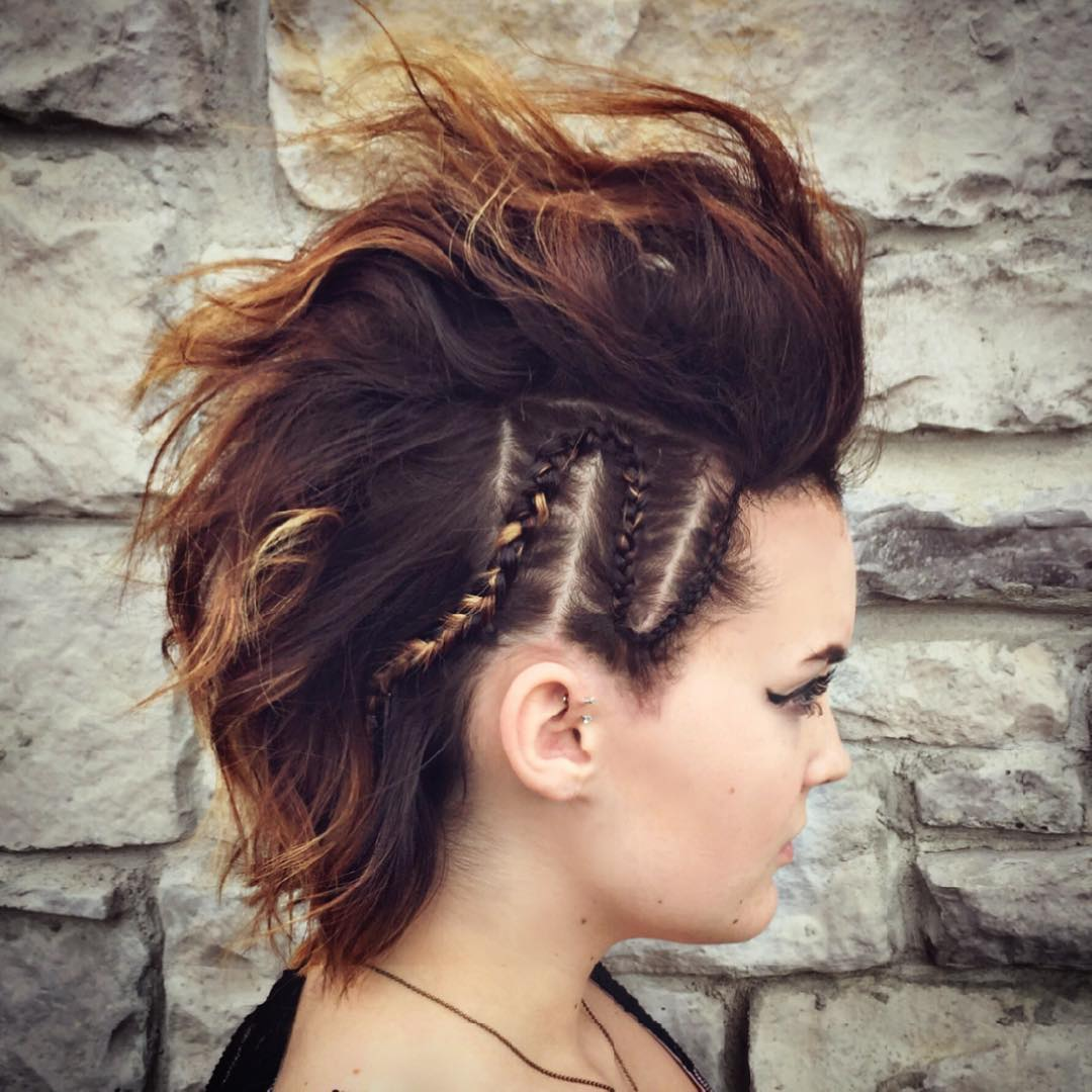 25 Cute Short Hairstyle with Braids - Braided Short ...